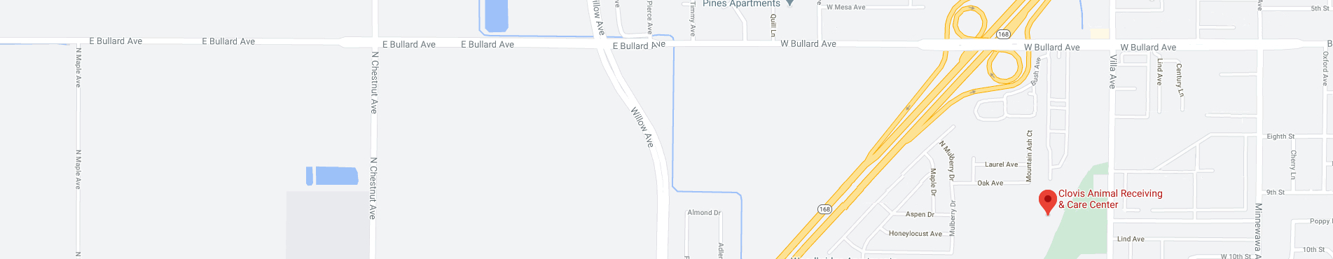 Map of Clovis Animal Services location
